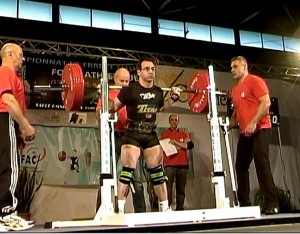 Squat 225 kilos - Championnat de France Elite 2012